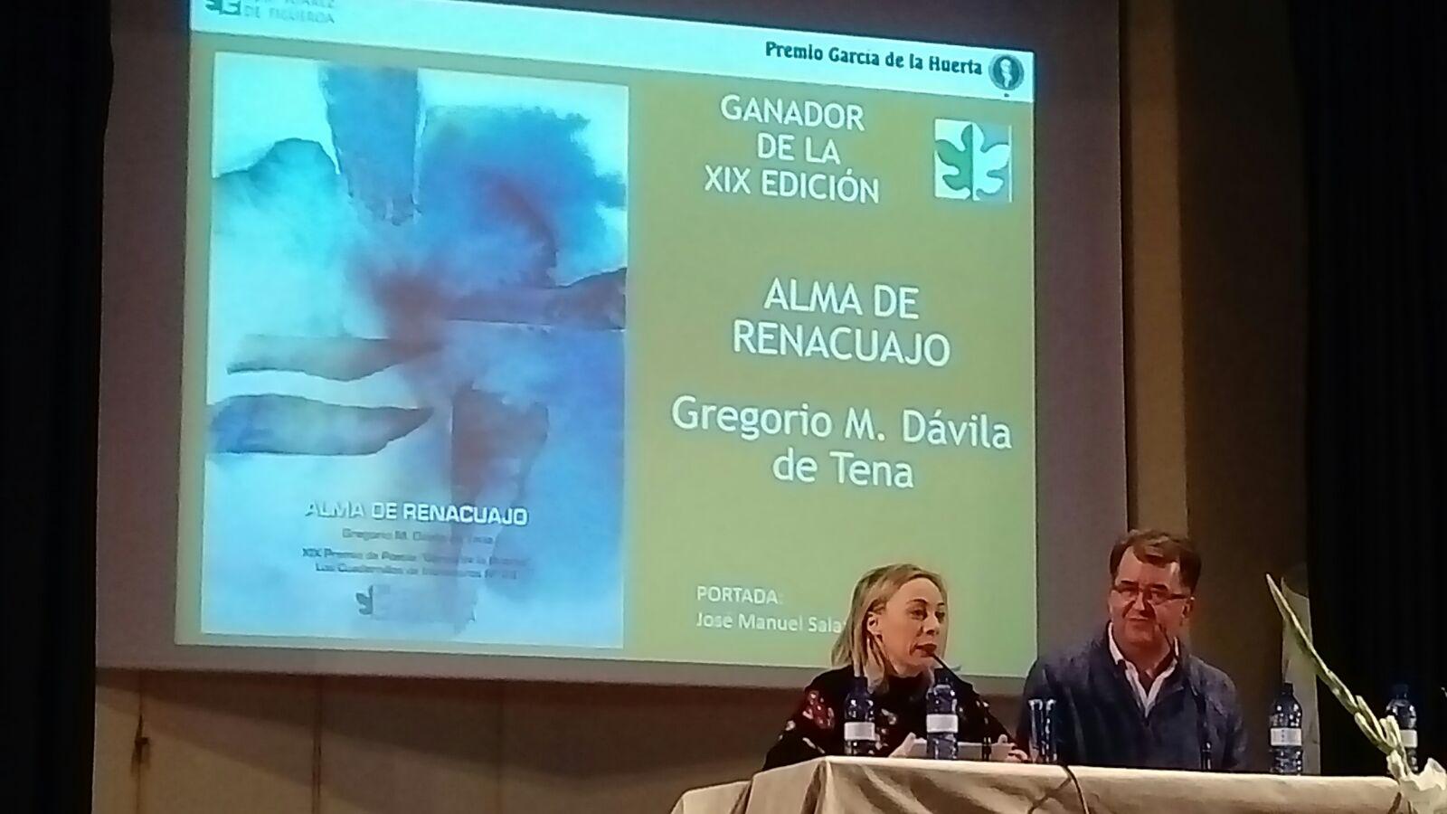 ACTO DE ENTREGA DEL XIX PREMIO DE POESÍA GARCÍA DE LA HUERTA